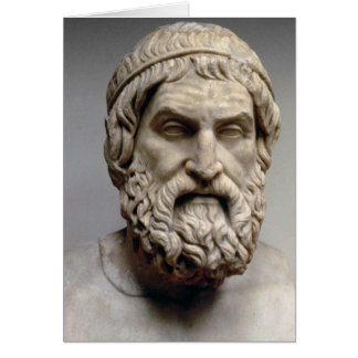 Portrait bust of Sophocles Greeting Card