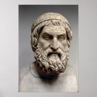 Portrait bust of Sophocles Print