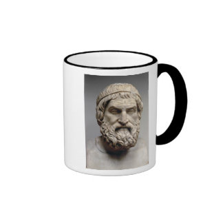 Portrait bust of Sophocles Ringer Coffee Mug