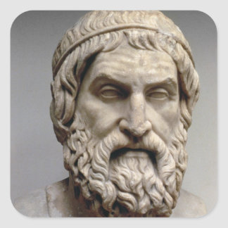 Portrait bust of Sophocles Square Sticker