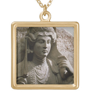 Portrait bust tomb relief, Roman, c.2nd/3rd centur Gold Plated Necklace