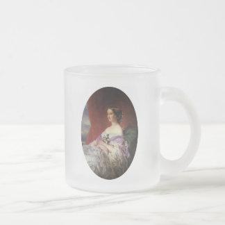 Portrait by Franz Xaver Winterhalter 10 Oz Frosted Glass Coffee Mug