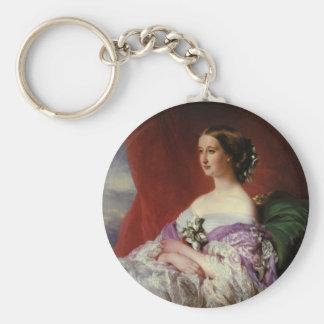Portrait by Franz Xaver Winterhalter Basic Round Button Keychain