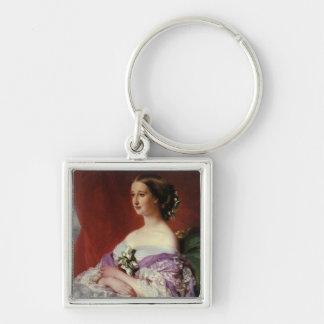 Portrait by Franz Xaver Winterhalter Silver-Colored Square Keychain