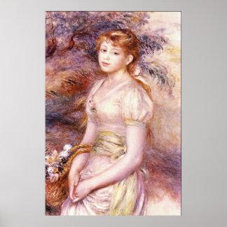 Portrait by Pierre Renoir Posters