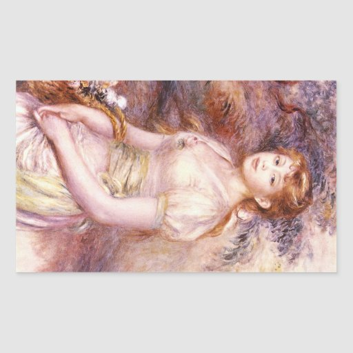 Portrait by Pierre Renoir Rectangle Sticker