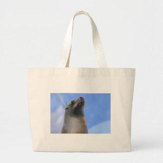 Portrait California Sea Lion Large Tote Bag