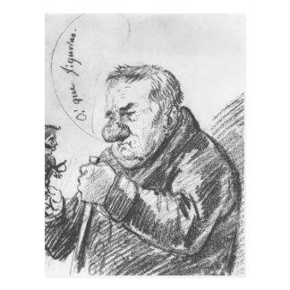 Portrait-caricature of Giacomo Quarenghi by Orest Postcard