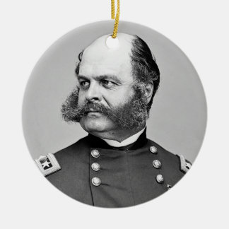 Portrait Civil War General Ambrose E. Burnside Ceramic Ornament