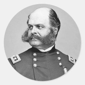 Portrait Civil War General Ambrose E. Burnside Classic Round Sticker