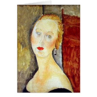 portrait de Germaine Survage by Amedeo Modigliani Card