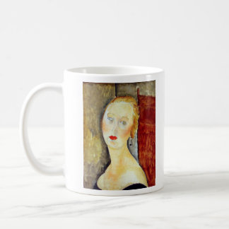 portrait de Germaine Survage by Amedeo Modigliani Coffee Mug