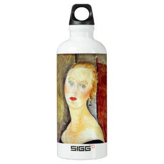 portrait de Germaine Survage by Amedeo Modigliani Water Bottle