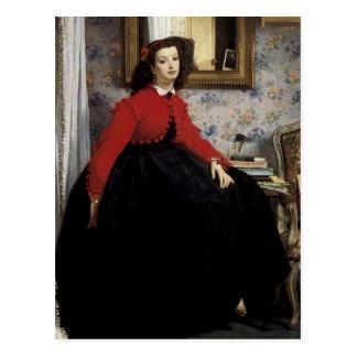 Portrait de Jeune Femme en Veste Rouge Postcard