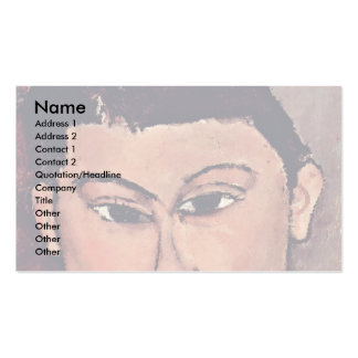 Portrait De Moise Kiesling By Modigliani Amedeo Double-Sided Standard Business Cards (Pack Of 100)