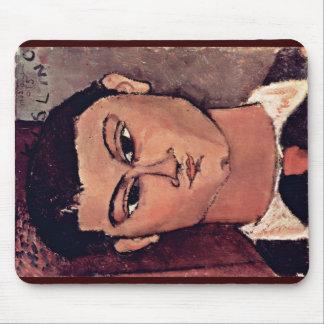 Portrait De Moise Kiesling By Modigliani Amedeo Mousepad