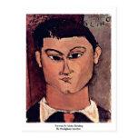 Portrait De Moise Kiesling de Modigliani Amedeo Postales