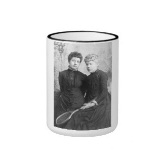 "PORTRAIT ""DOROTHEA TWINS"" (1880s) Ringer Coffee Mug"
