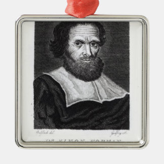 Portrait Dr Simon Forman  engraved by Godfrey Christmas Tree Ornament