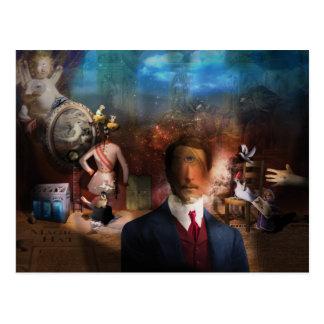 Portrait Du Magicien - A portrait of a Magician Postcard