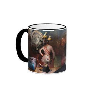 Portrait Du Magicien - A portrait of a Magician Ringer Mug