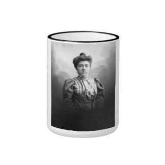 "PORTRAIT ""ELISENE"" (1900s) Ringer Coffee Mug"