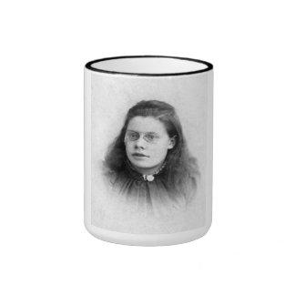 "PORTRAIT ""FELICIA"" (1880s) Ringer Coffee Mug"