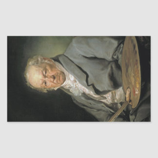 Portrait Francisco de Goya Vicente López Portaña Rectangular Pegatinas