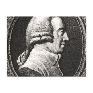 Portrait from a medallion of Adam Smith Canvas Print