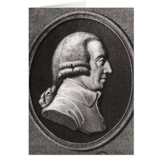 Portrait from a medallion of Adam Smith Card