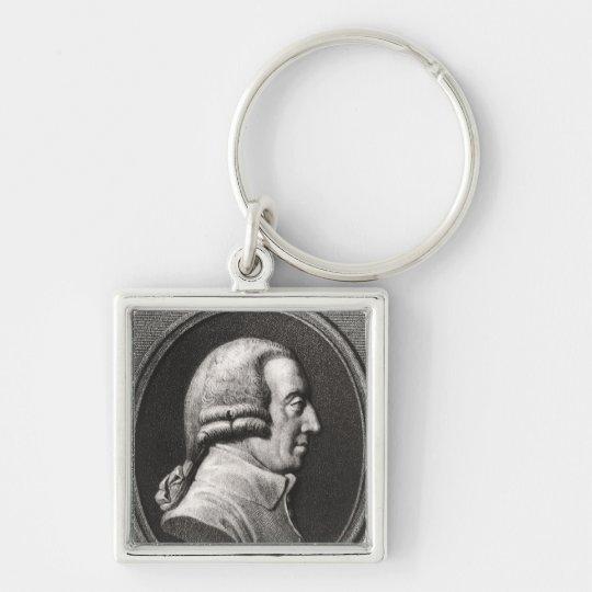 Portrait from a medallion of Adam Smith Keychain