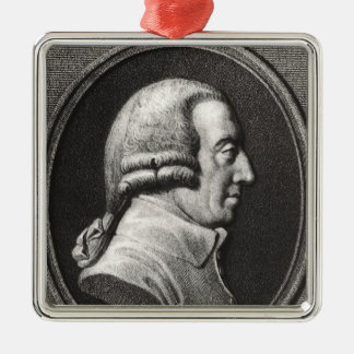 Portrait from a medallion of Adam Smith Metal Ornament