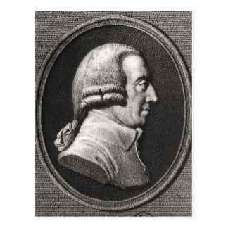 Portrait from a medallion of Adam Smith Postcard