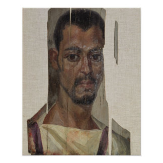 Portrait from Fayum (encaustic wax on wood) Poster