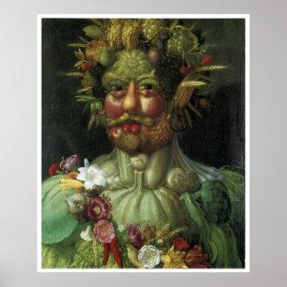 Portrait from Vegetation Giuseppe Arcimboldo Poster