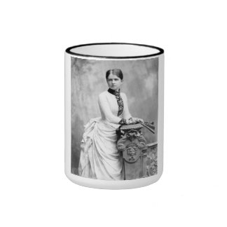 "PORTRAIT ""GERTA"" (1880s) Ringer Coffee Mug"