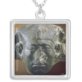 Portrait head of Sesostris III  from a sphinx Silver Plated Necklace