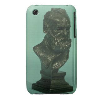 Portrait head of Victor Hugo (1802-85) (bronze) iPhone 3 Case-Mate Cases