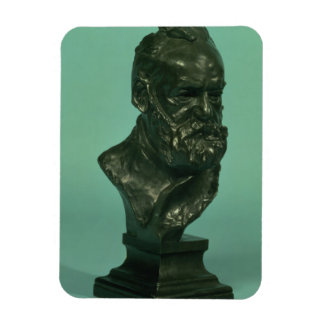 Portrait head of Victor Hugo (1802-85) (bronze) Magnet
