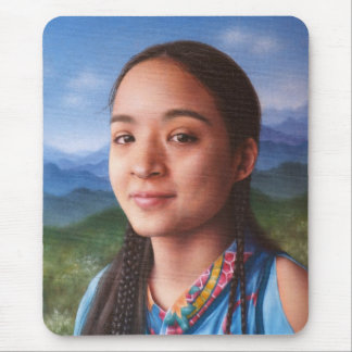 Portrait in Oil of Native Beauty Mouse Pad