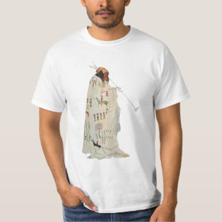 Portrait, Indian Warrior with Pipe by Karl Bodmer T-Shirt