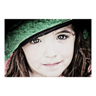 portrait irish eyes are smiling young girl poster