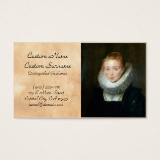 Portrait Maid Honour Infanta Isabella Rubens Paul Business Card
