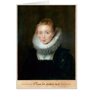 Portrait Maid Honour Infanta Isabella Rubens Paul Card