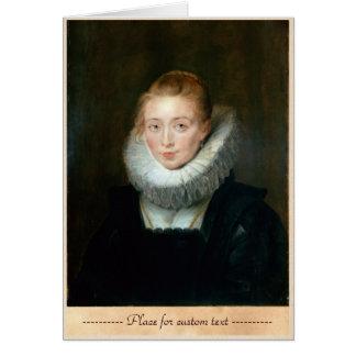 Portrait Maid Honour Infanta Isabella Rubens Paul Card