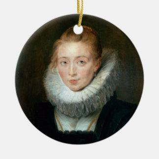 Portrait Maid Honour Infanta Isabella Rubens Paul Ceramic Ornament