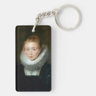 Portrait Maid Honour Infanta Isabella Rubens Paul Keychain
