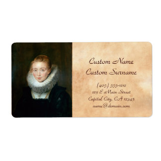 Portrait Maid Honour Infanta Isabella Rubens Paul Label