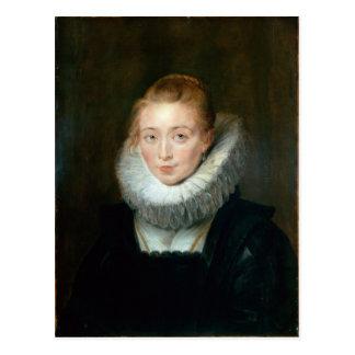 Portrait Maid Honour Infanta Isabella Rubens Paul Postcard