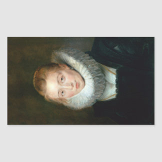 Portrait Maid Honour Infanta Isabella Rubens Paul Rectangular Sticker